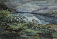Peinture, Artiste-peintre, ecosse-fonds-du-loch-broom