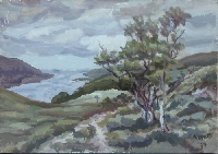 Peinture, Artiste-peintre, Sentier le long du loch Broom